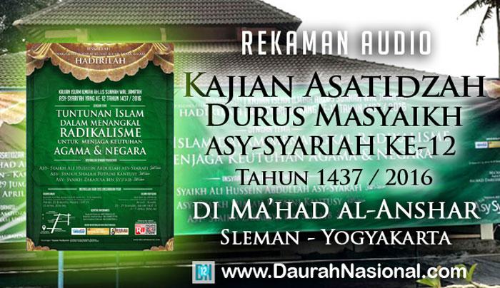Link Download Kajian Asatidzah Bersama Asy-Syaikh Zakariya bin Syu'aib hafizhahullah