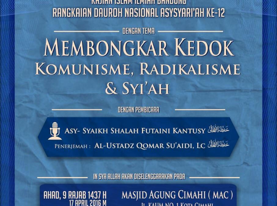 Safari Dakwah Asy-Syariah Ke-12 di Kota Bandung Jawa Barat